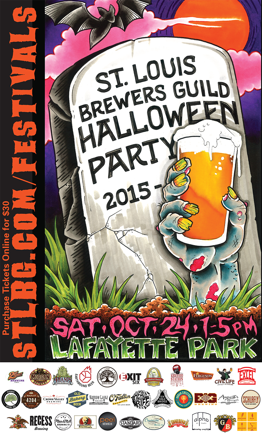 stl brewers guild halloween party oct 22 contests poster - Halloween Parties In St Louis